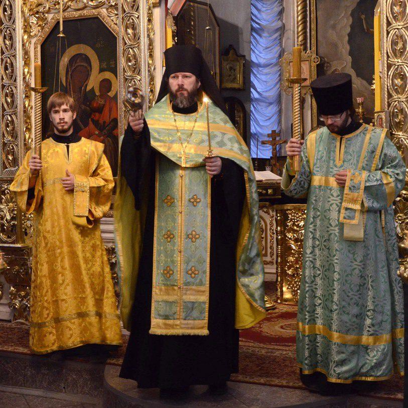 Богослужение в день памяти св. прп. Сергия Радонежского (08.10.2014)
