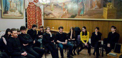 Студенческий кинопросмотр в КазПДС