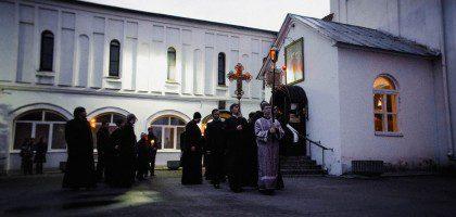 Утреня Великой Субботы с чином погребения Плащаницы  совершена в Духовной семинарии