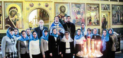 Хор Регентско-катехизаторского отделения в день празднования Рождества Богородицы принял участие в богослужении в Благовещенском соборе Казанского Кремля