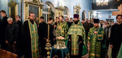 В Казанской семинарии отметили память прп. Сергия, игумена Радонежского