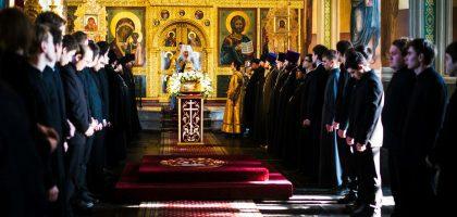 В Неделю Торжества Православия митрополит Феофан совершил Литургию в Благовещенском соборе