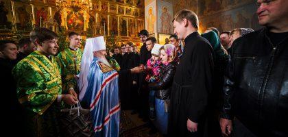 Мужской хор КазПДС принял участие в архиерейской службе в Зилантовом монастыре