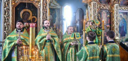 Богослужение в день памяти преподобного Сергия Радонежского
