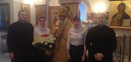 Преподаватели и студенты духовной семинарии поздравили протоиерея Павла Павлова с 60-летием