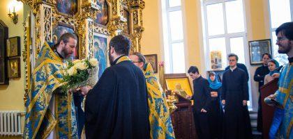 В праздник Введения во храм Пресвятой Богородицы первого проректора игумена Евфимия поздравили с днем священнической хиротонии