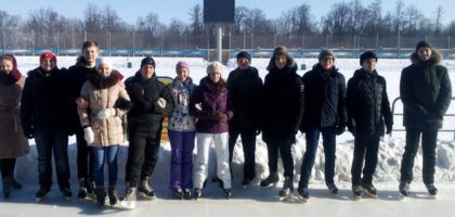 15 февраля студенты семинарии посетили спортивный стадион «Трудовые резервы» города Казань