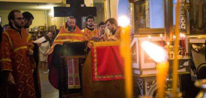 В храме при Казанской православной духовной семинарии был отслужен акафист Воскресению Христову.