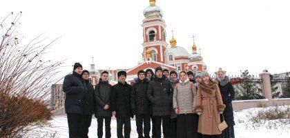 УЧАЩИЕСЯ КАЗАНСКОЙ ДУХОВНОЙ СЕМИНАРИИ ПОСЕТИЛИ ХРАМ CЕРАФИМА САРОВСКОГО