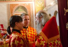 Учащиеся духовной школы встретились с архимандритом Мелхиседеком (Артюхиным)