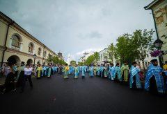 Члены администрации, преподаватели и студенты Казанской семинарии приняли участие в крестном ходе