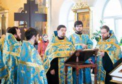 Богослужения Субботы Акафиста состоялись в храме семинарии
