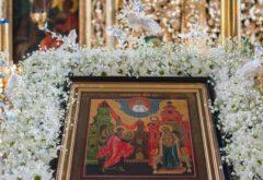 В семинарском храме встретили праздник Благовещения Пресвятой Богородицы